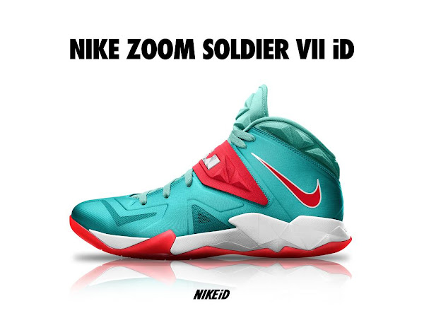 best website 59723 5cb13 LeBron Zoom Soldier VII Available for Customization at Nike ...