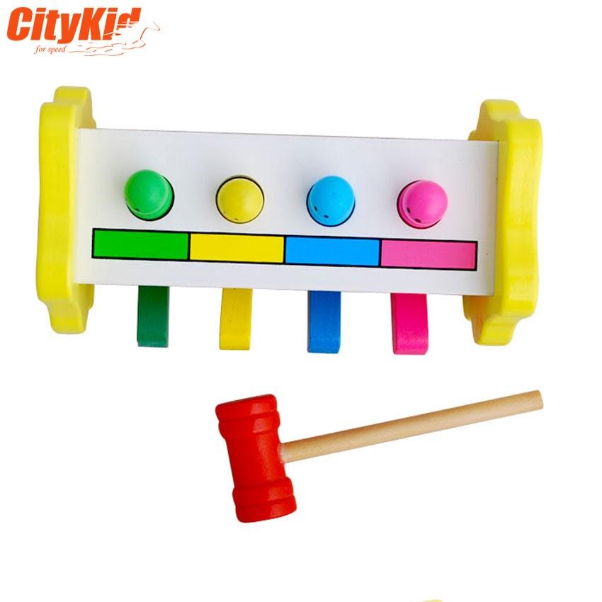 Bộ gõ bằng gỗ cho bé Percussion Toys