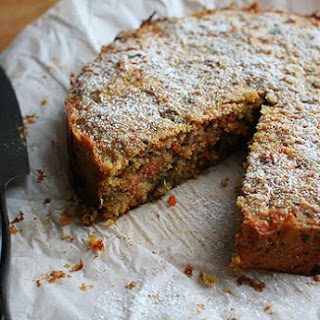 Spiced Carrot, Pistachio + Almond Cake.