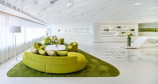 Sillones verdes de diseño moderno