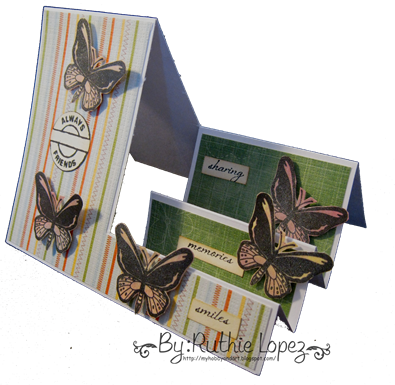 Birdwing Butterfly - step card 1
