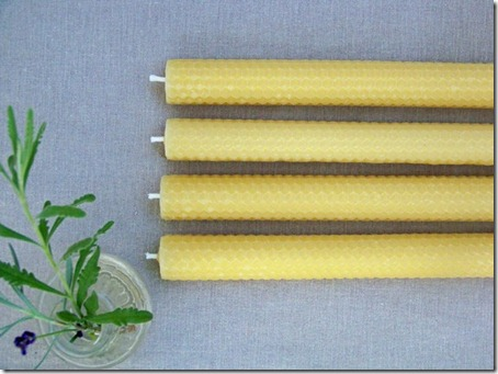Photo of Tall Natural Bees Wax Tapers via YourBeeswax on Etsy