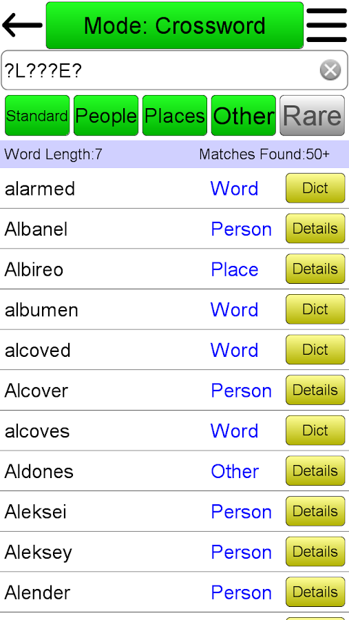 Crossword Solver - screenshot