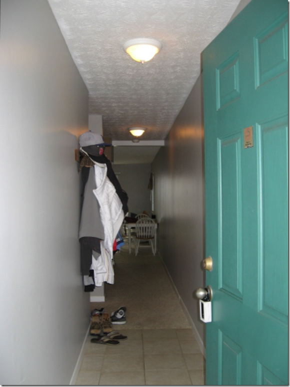 BEFORE When You Enter The Unit Go Down A Long Hall Bunks Are On Left Past Hanging Jackets At End Of Is Living