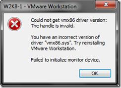 Vmware workstation fails to initialize monitor techyv. Com.