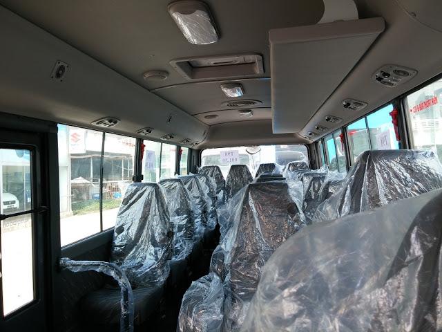 Nội thất xe khách 29 chỗ ghế 3-1