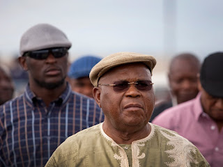 Arrivée à Goma de Etienne Tshisekedi, candidat de l'UDPS à l'élection présidentielle 2011 en RDC , 14/11 2011. © MONUSCO/Sylvain Liechti