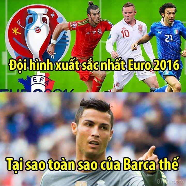 Đội hình xuất sắc nhất Euro . Toàn sao barca thế này :v