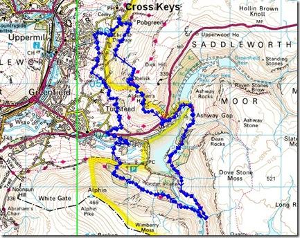 Cross Keys 2013 route