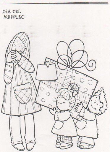 Dibujos Para Pintar Y Regalar El Dia De La Madre