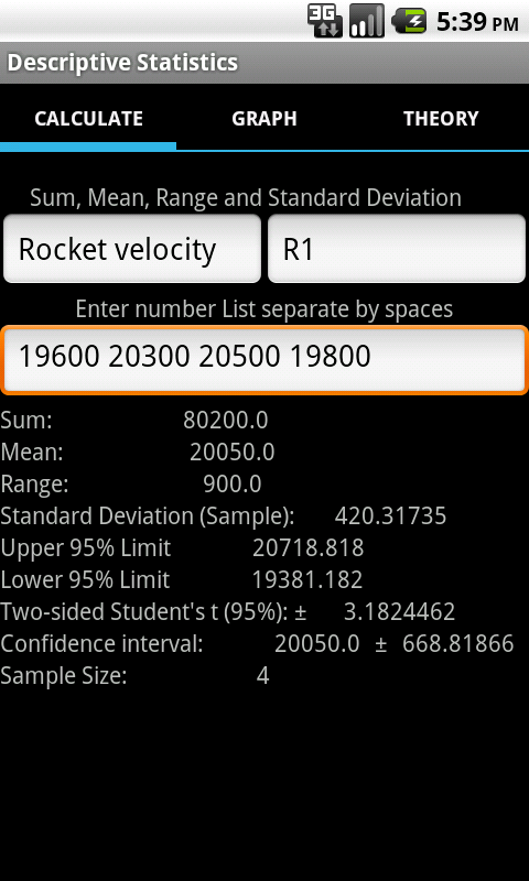 Descriptive Statistics Tools- screenshot