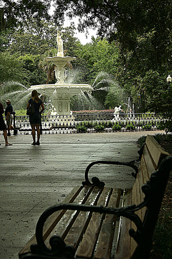 Fountain on Forsyth Square in Savannah