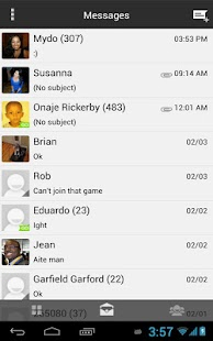 GoogleUI ICS Free Go SMS Theme - screenshot thumbnail