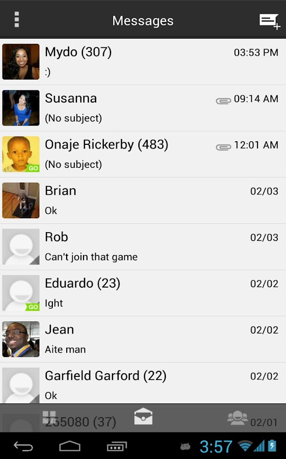 GoogleUI ICS Free Go SMS Theme - screenshot