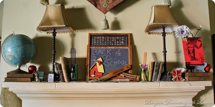 Back to School Mantel
