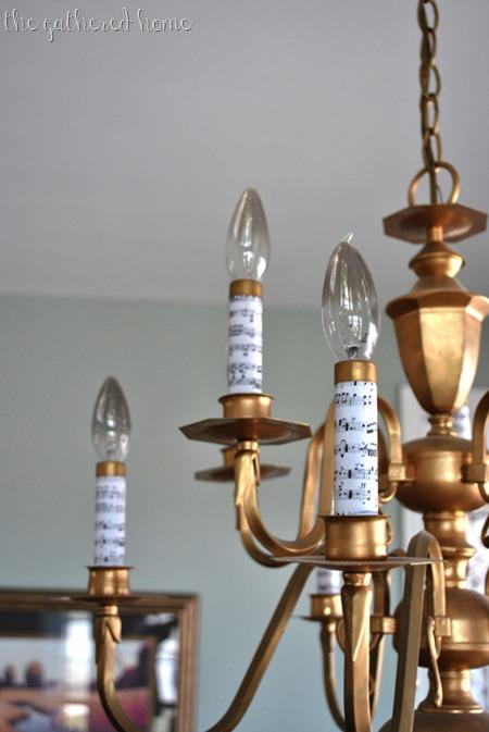 Chandelier makeover the gathered home chandelier makeover after aloadofball Images