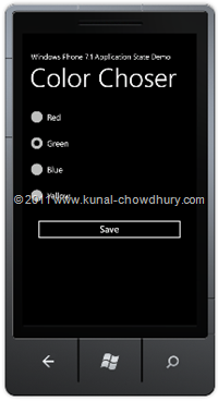 Color Choser UI (WP7 Application State Management Demo)