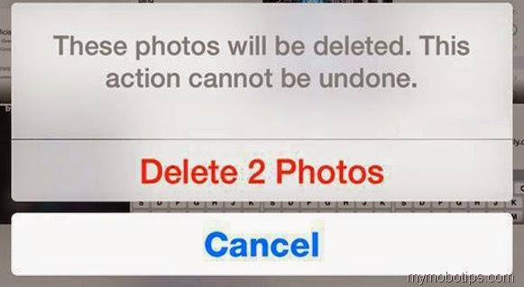 permanently delete photos ios