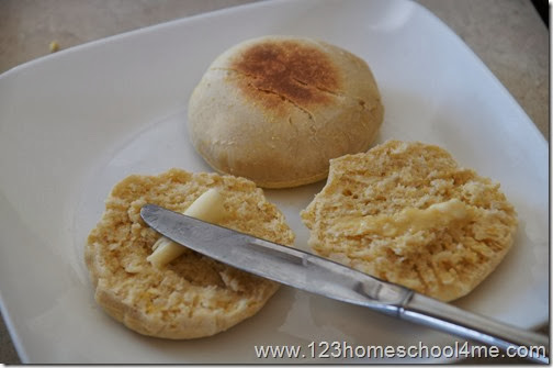 serve english muffins with butter or jam