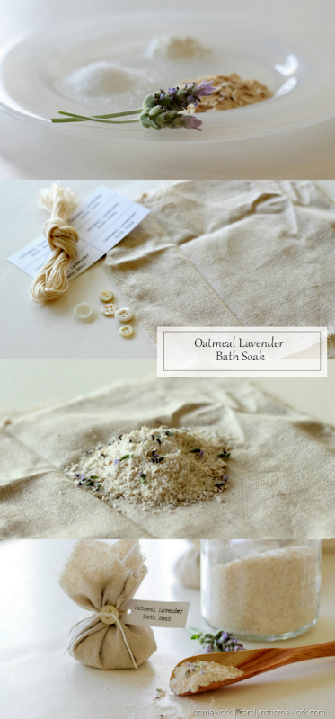Oatmeal Lavender Bath Soak - Homemade Bath Salts