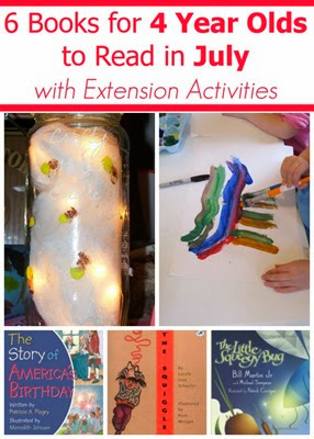 July book recommendations for 4 year olds with extension activities