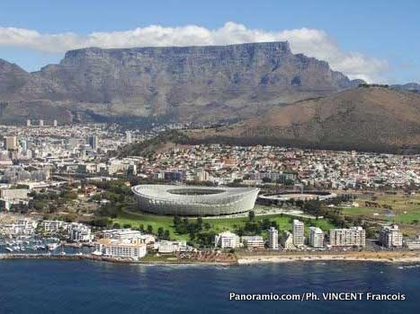 Une vue du centre ville de Cap Town en Afrique du Sud.