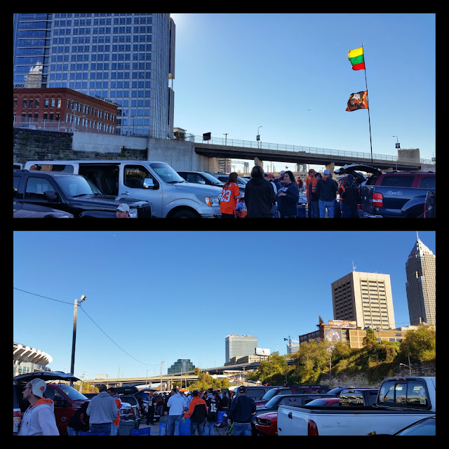 football, tailgating, fall, cleveland