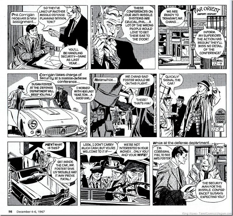 Agent X9 Phil Corrigan Daily Strip 86 A Jewell For Blackmail By Archie Goodwin & Al Williamson