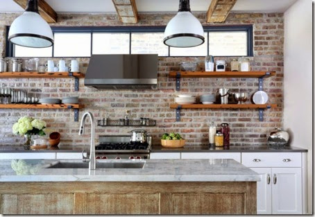 Inspiring-wooden-kitchen-wall-shelving-with-pendant-lamp-kitchen-island-wash-basin-and-exposed-brick-kitchen-wall-ideas-915x630