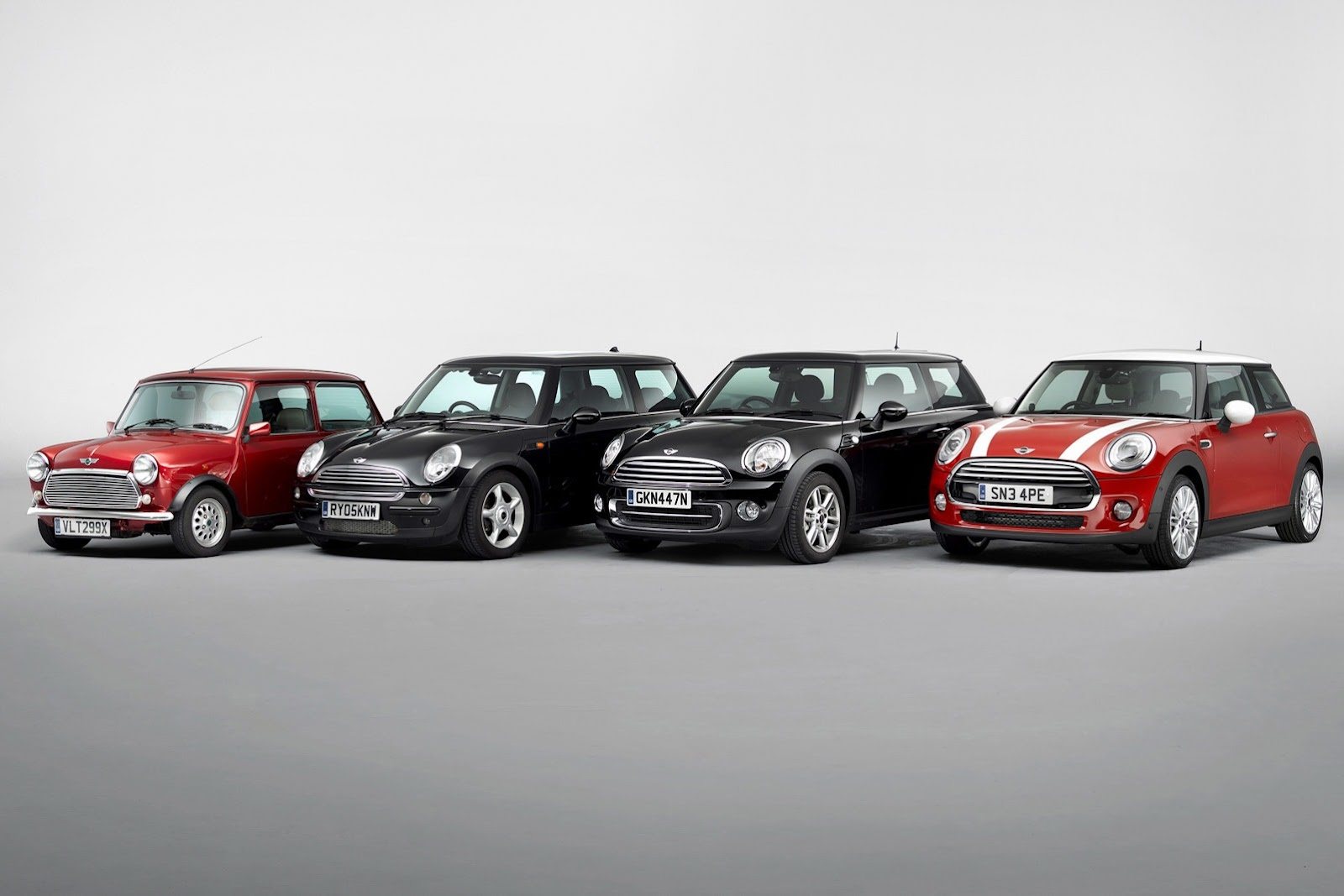 Mini Cooper Exterior Earance Through The Generations