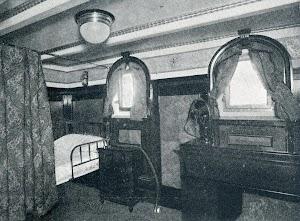 BT CAMPEADOR. Camarote del capitan. Del libro CAMPSA. 1928-1932