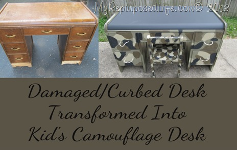 My Repurposed Life Camo Desk
