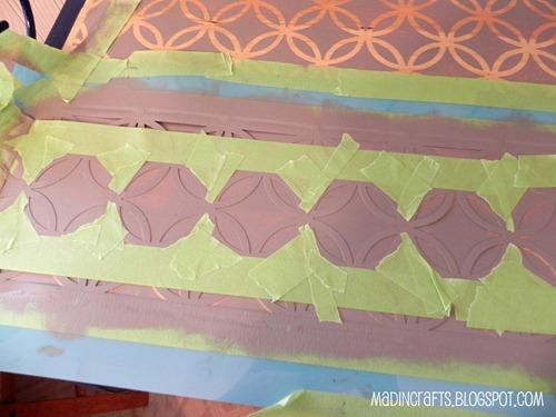 tape off desired design