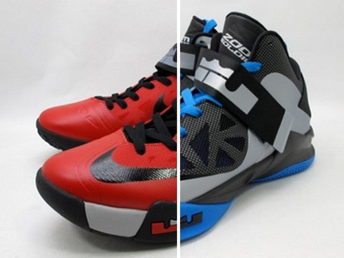 watch 0c624 b4865 Detailed Look at Nike Soldier 6 in BlackBlue amp RedBlack ...
