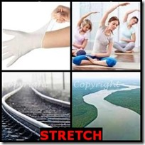 STRETCH- 4 Pics 1 Word Answers 3 Letters