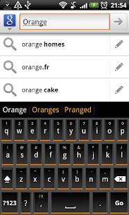 Orange Slate HD Keyboard Theme- screenshot thumbnail