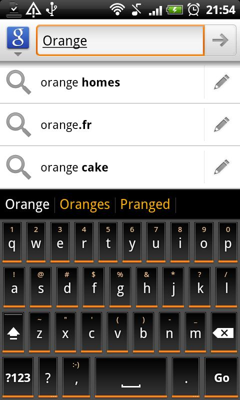 Orange Slate HD Keyboard Theme - screenshot