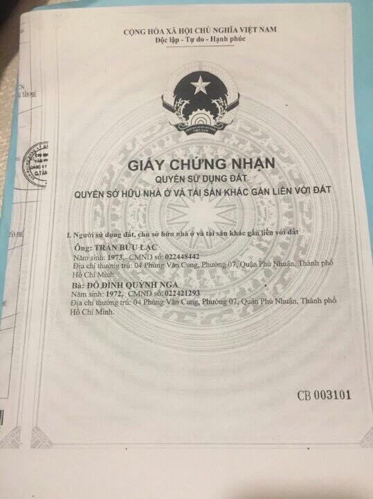 Bán đất thổ cư chính chủ quận Tân Phú 03