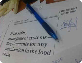 keselamatan makanan, iso