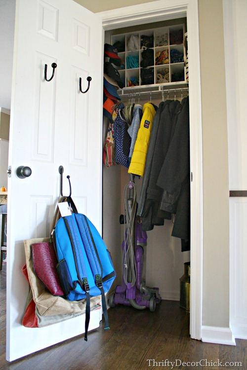 using back of coat closet door