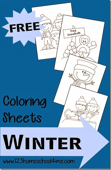 Winter Coloring Pages! These free printable winter coloring page are so cute with the snowmen, penguins, and sledding kids. Perfect winter activity for kids in preschool!