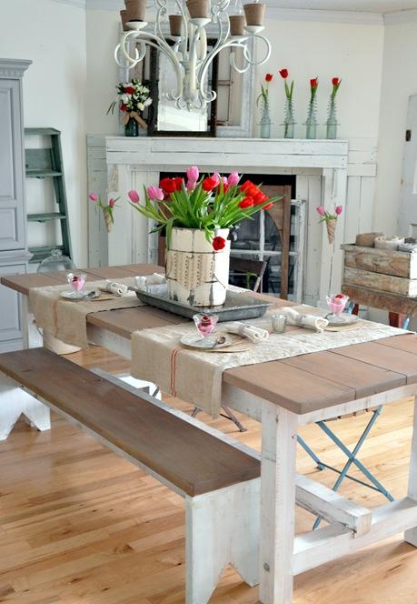 valentines dining room