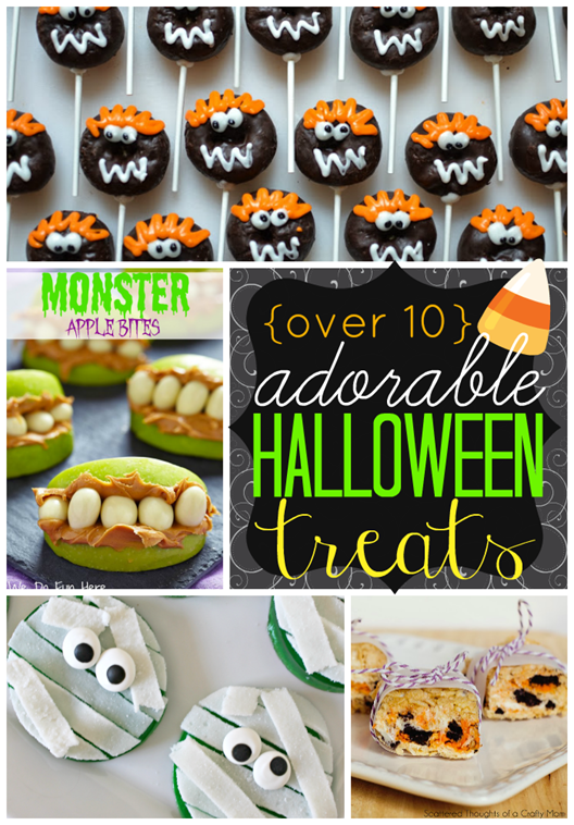 Over 10 Adorable Halloween Treats #halloween #gingersnapcrafts #features