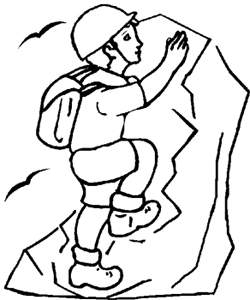 colorear dibujos de alpinistas. Black Bedroom Furniture Sets. Home Design Ideas