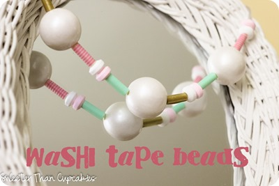 Washi Tape Beaded Necklace