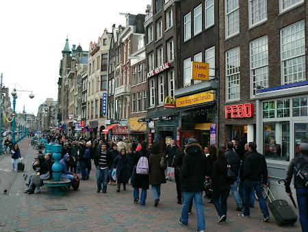 Shopping Olanda: zona pietonala shopping Amsterdam