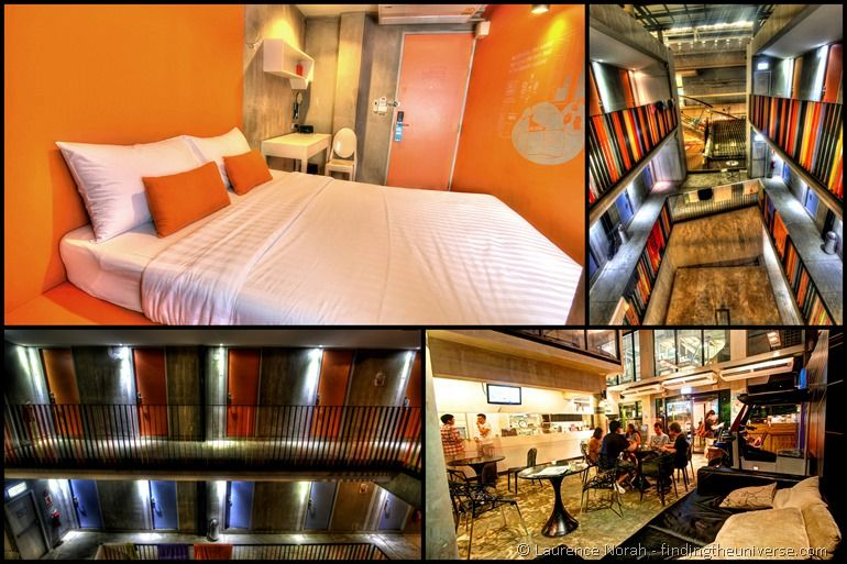 Lub d Bangkok hostel collage Thailand room common area corridor bed