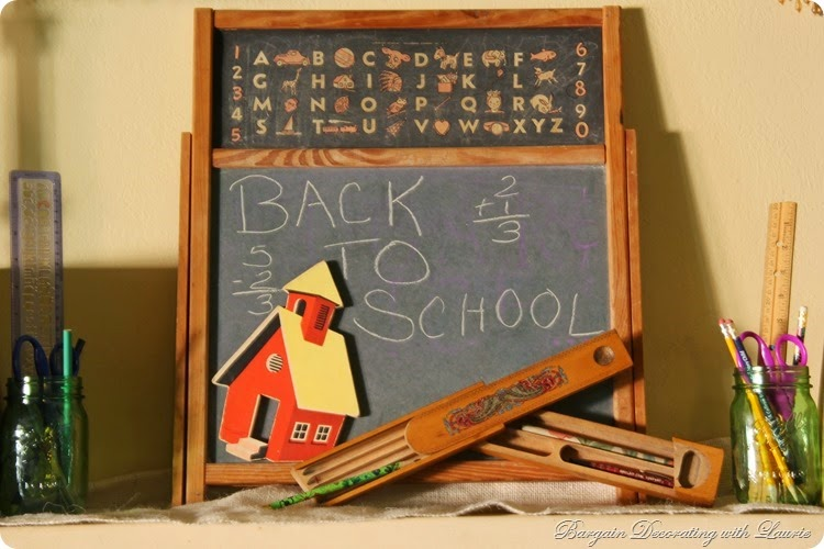 Back to School Mantel 1