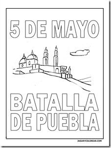 Colorear 5 De Mayo Batalla De Puebla Para Niños