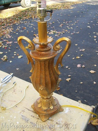 lamp table gold distressed pin moroccan base costplusworldmarket